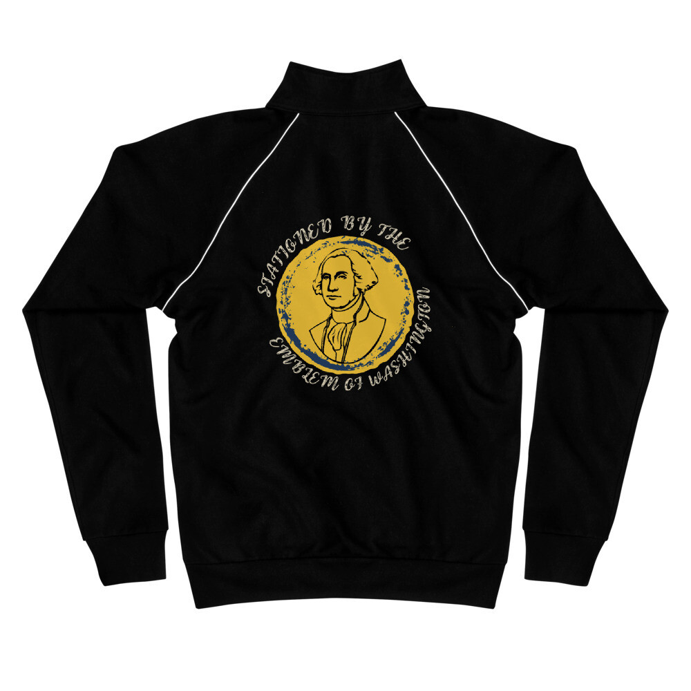 Stationed By The Emblem Of Washington Piped Fleece Jacket