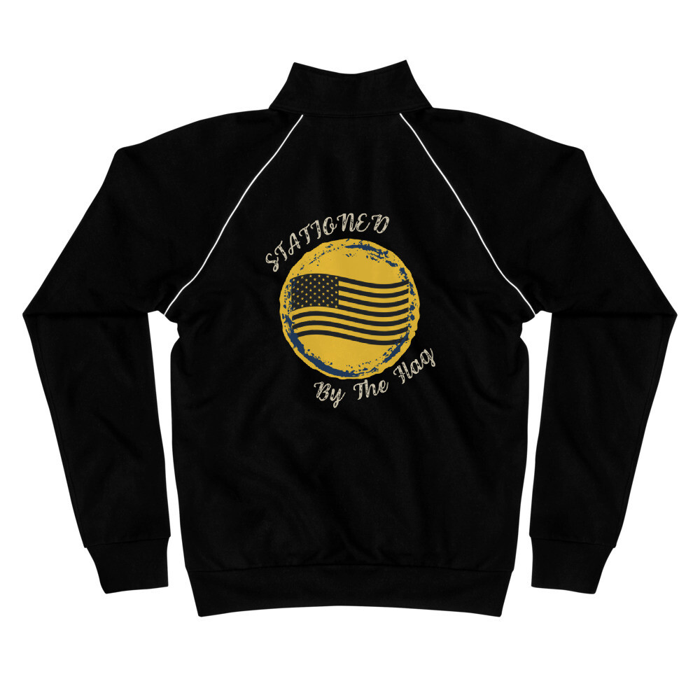 Stationed By The Flag Piped Fleece Jacket