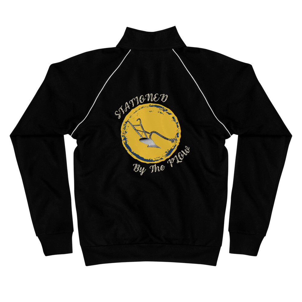 Stationed By The Plow Piped Fleece Jacket