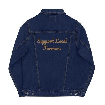 Support Local Farmers Denim Jacket