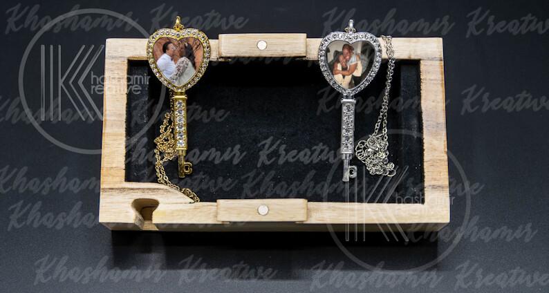 Jeweled Key Necklace