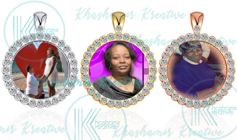 Jeweled Photo Necklace