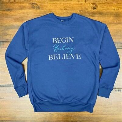 YES Sweatshirts  (Navy Blue)