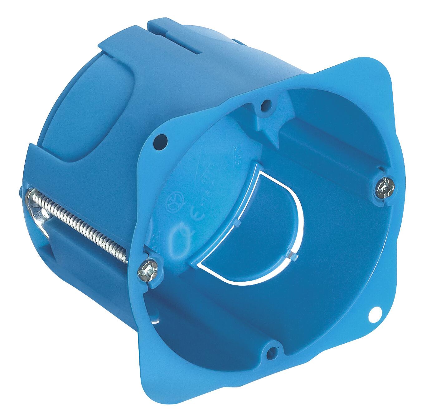 Коробка встраиваемая круглая на 1-2 мод для тонких перегородок