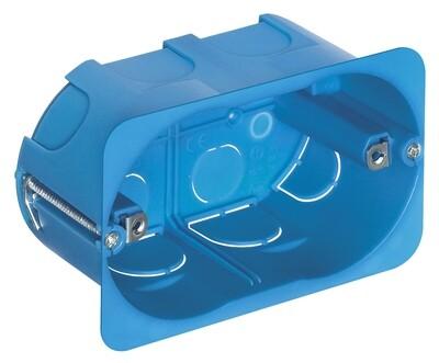 Коробка встраиваемая прямоуг для тонких перегородок 3 мод