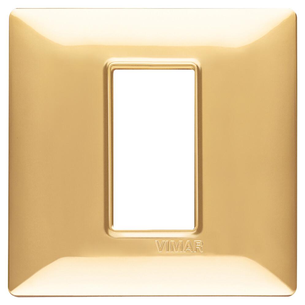 Накладка для 1 модуля золото блестящее