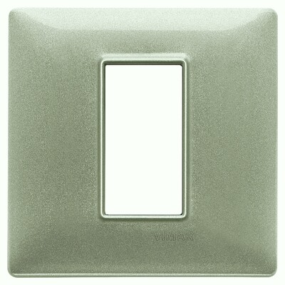 Накладка для 1 модуля зеленая металлизированная