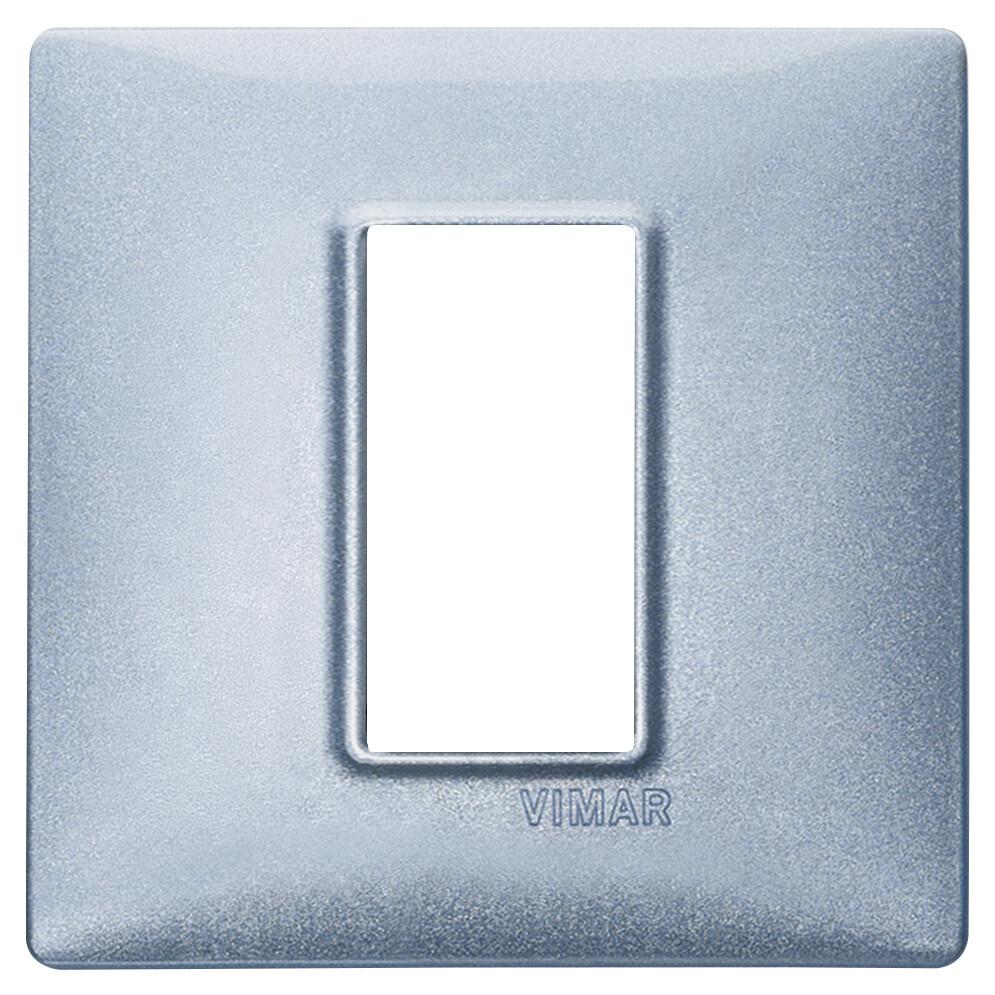 Накладка для 1 модуля синяя металлизированная