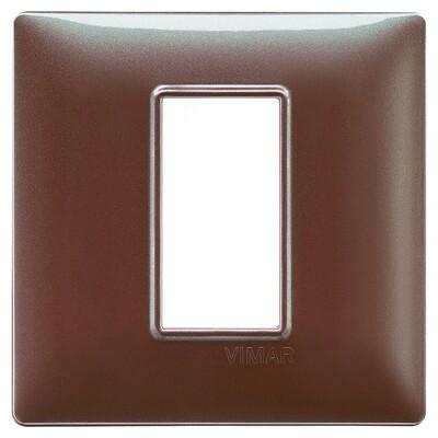 Накладка для 1 модуля коричневая переливающаяся
