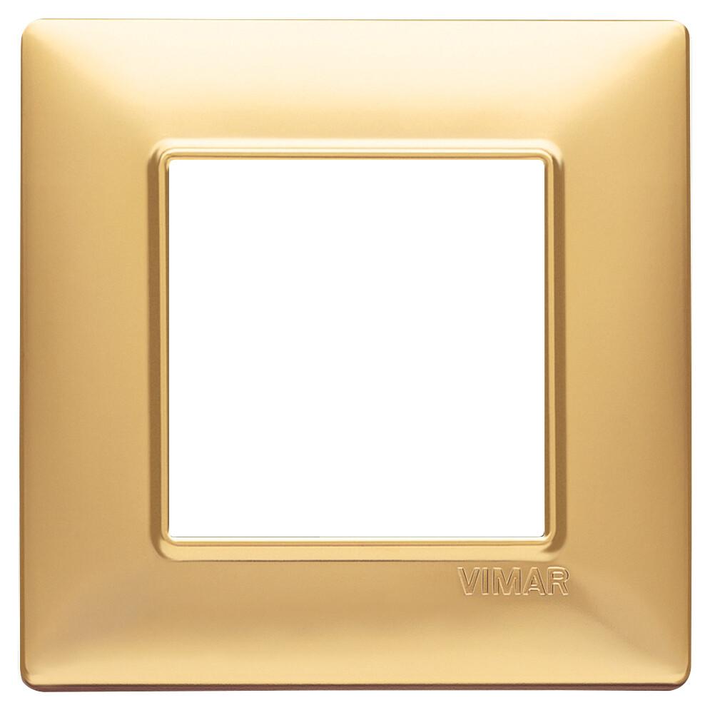 Накладка для 2 модулей золото матовое