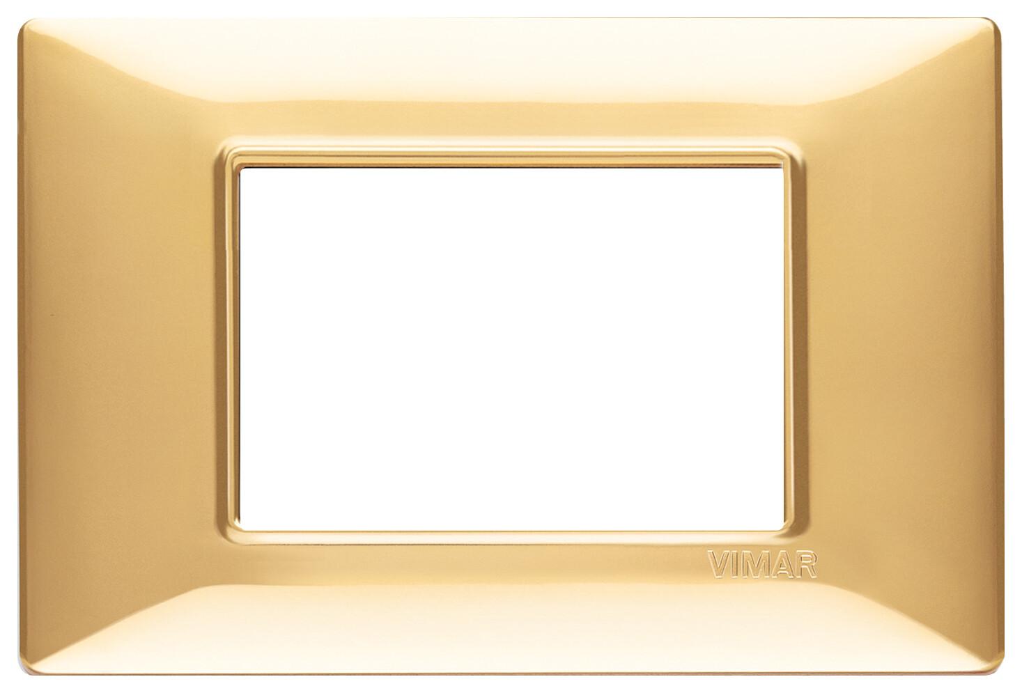 Накладка для 3 модулей золото блестящее