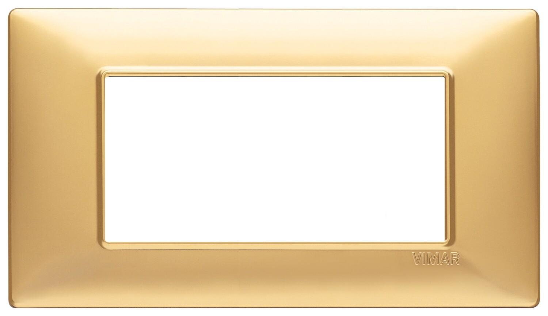 Накладка для 4 модулей золото матовое