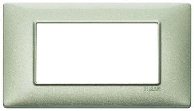Накладка для 4 модулей зеленая металлизированная