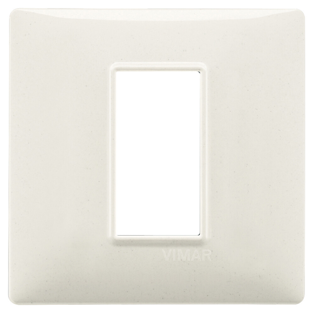 Накладка для 1 модуля белый гранит