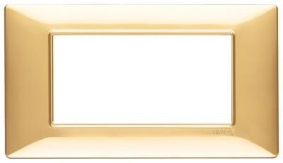 Накладка для 4 модулей золото блестящее