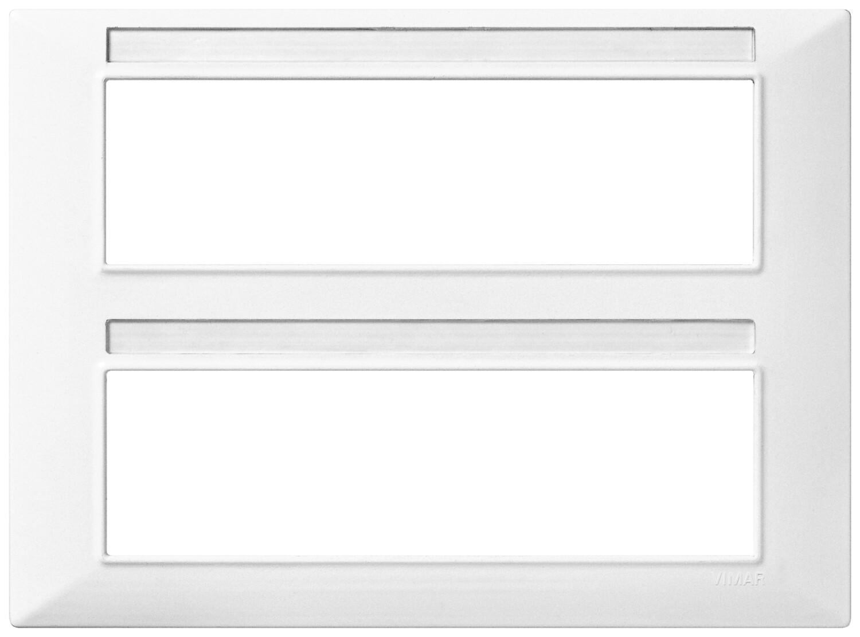 Накладка для 14 модулей (7+7), белая