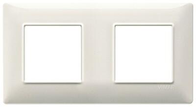 Накладка для 4 модулей (2+2) расстояние между центрами 71мм белый гранит