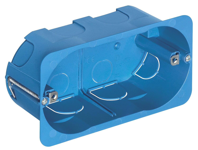 Коробка встраиваемая прямоуг для тонких перегородок 4 мод