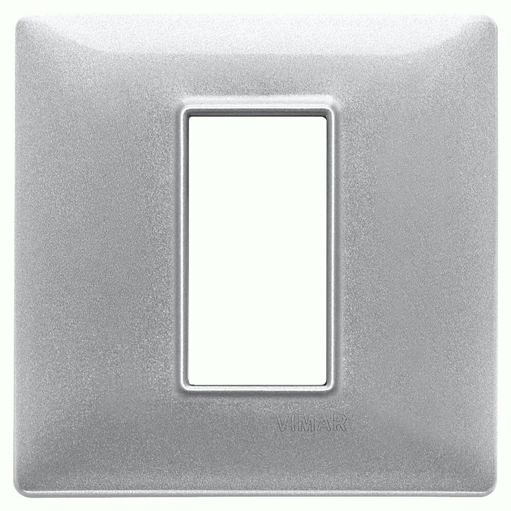 Накладка для 1 модуля серебро металлизированное