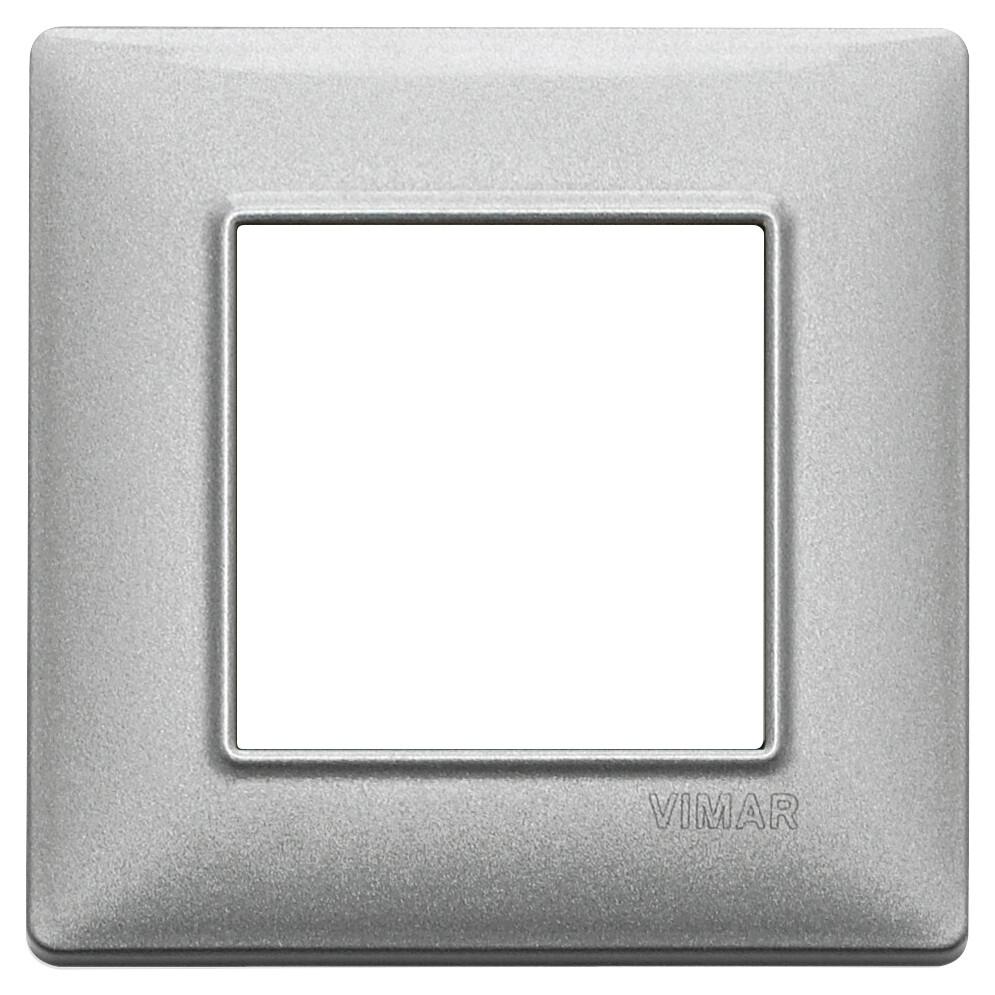 Накладка для 2 модулей серебро металлизированное