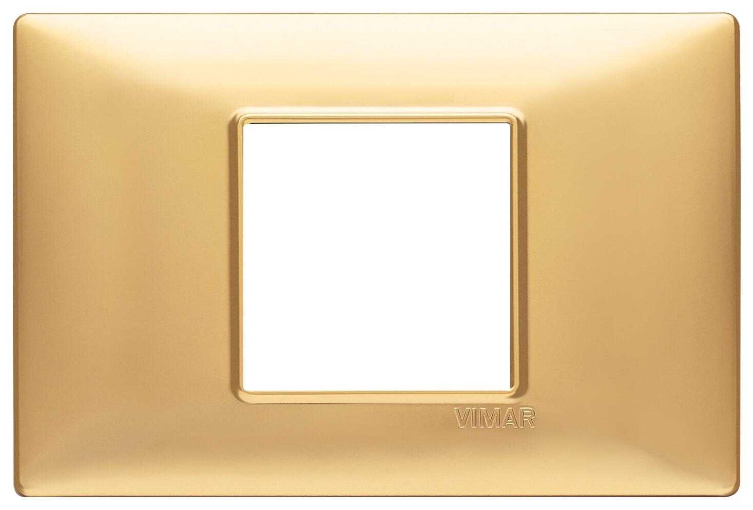 Накладка для 2 модулей центрально золото матовое