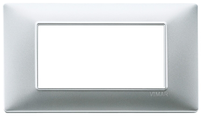 Накладка для 4 модулей серебро матовое