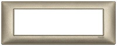 Накладка для 7 модулей бронза металлизированная