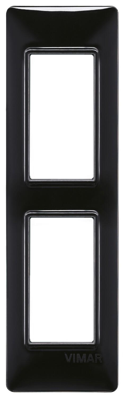 Накладка на 2 модуля для панелей, черная