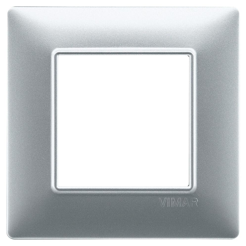 Накладка для 2 модулей серебро матовое