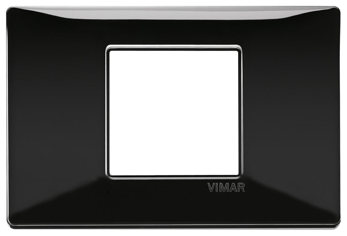 Накладка для 2 модулей центрально черная