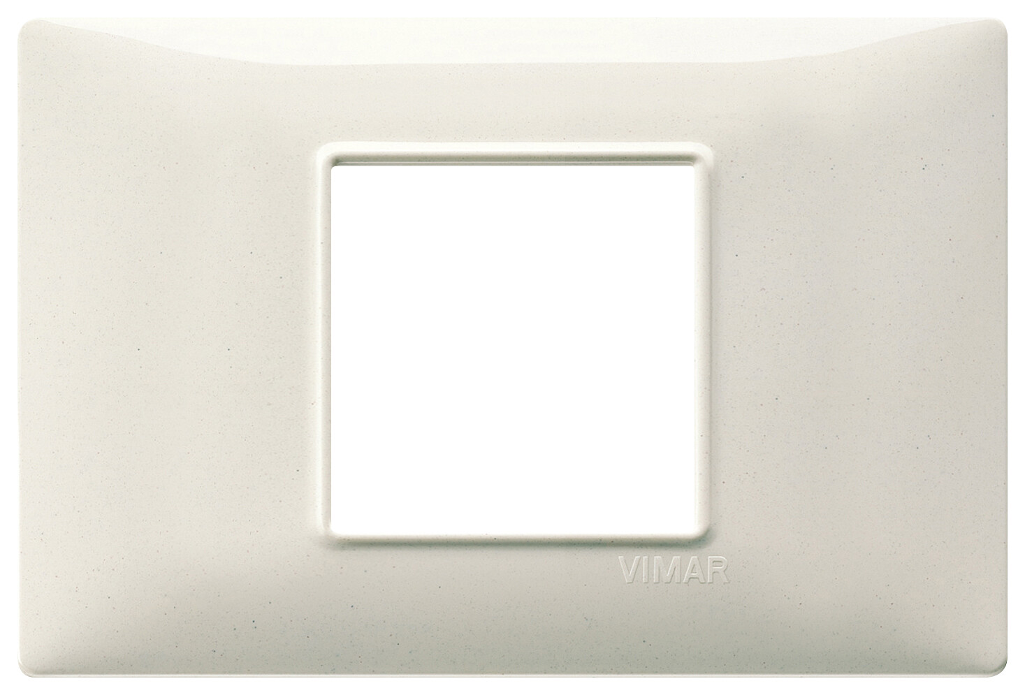 Накладка для 2 модулей центрально белый гранит