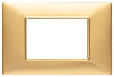 Накладка для 3 модулей золото матовое