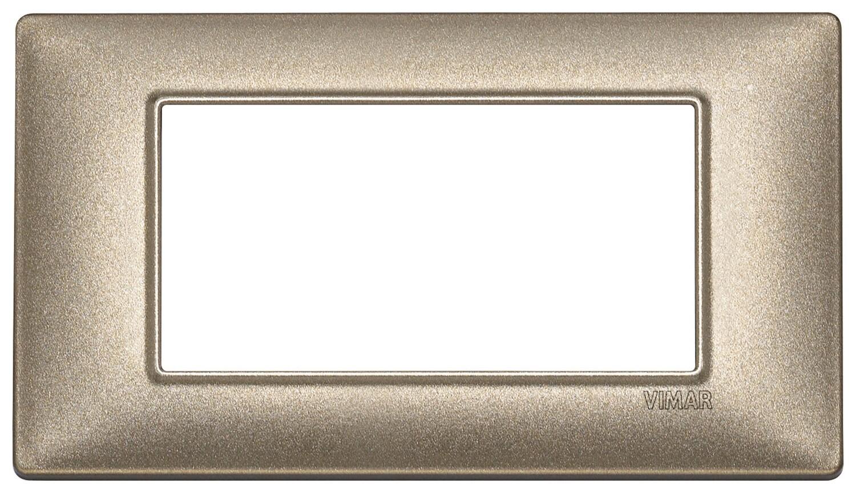 Накладка для 4 модулей бронза металлизированная