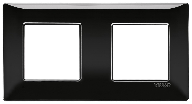 Накладка для 4 модулей (2+2) расстояние между центрами 71мм черная