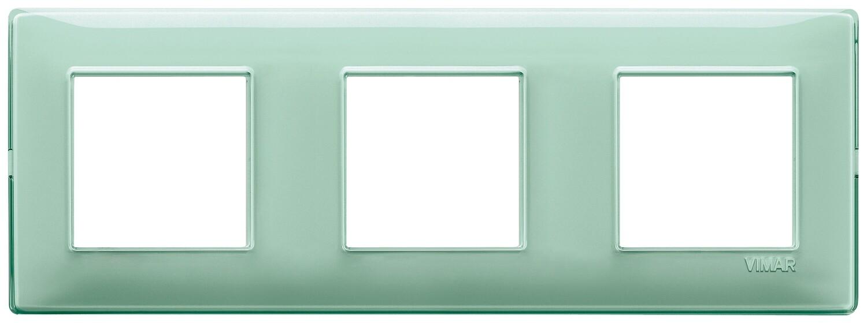 "Накладка для 6 модулей (2+2+2) расстояние между центрами 71мм Reflex ""мята"""