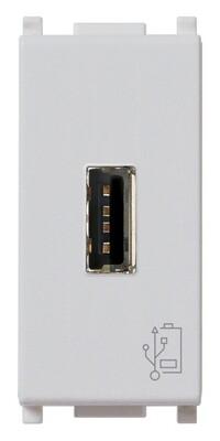 Зарядное устройство с разъемом USB 5V 1,5A, 1модуль, серебро