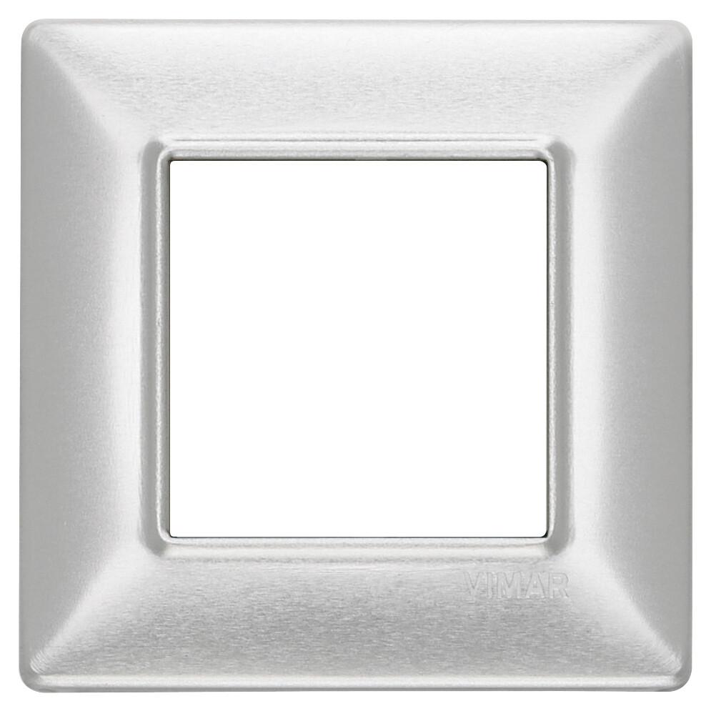 Накладка для 2 модулей зашкуренный алюминий