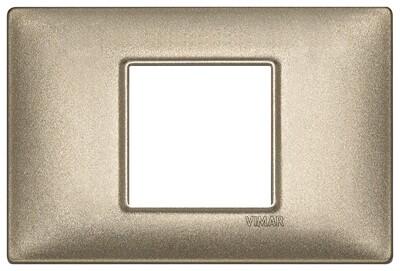 Накладка для 2 модулей центрально бронза металлизированная