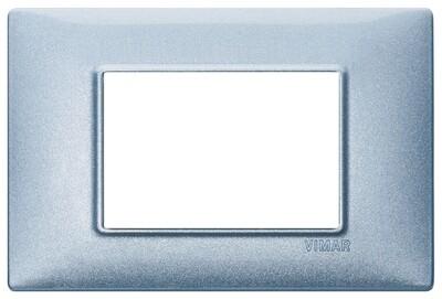 Накладка для 3 модулей синяя металлизированная