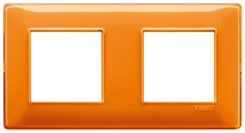 """Накладка для 4 модулей (2+2) расстояние между центрами 71мм Reflex """"апельсин"""""""