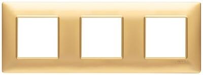 Накладка для 6 модулей (2+2+2) расстояние между центрами 71мм золото матовое