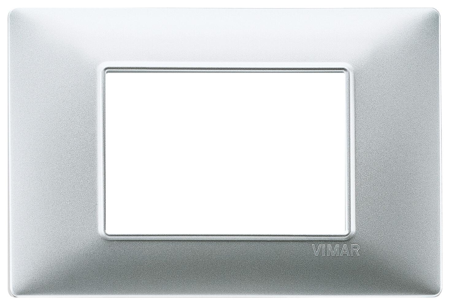 Накладка для 3 модулей серебро матовое