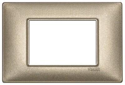 Накладка для 3 модулей бронза металлизированная