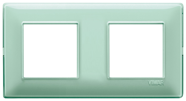 "Накладка для 4 модулей (2+2) расстояние между центрами 71мм Reflex ""мята"""