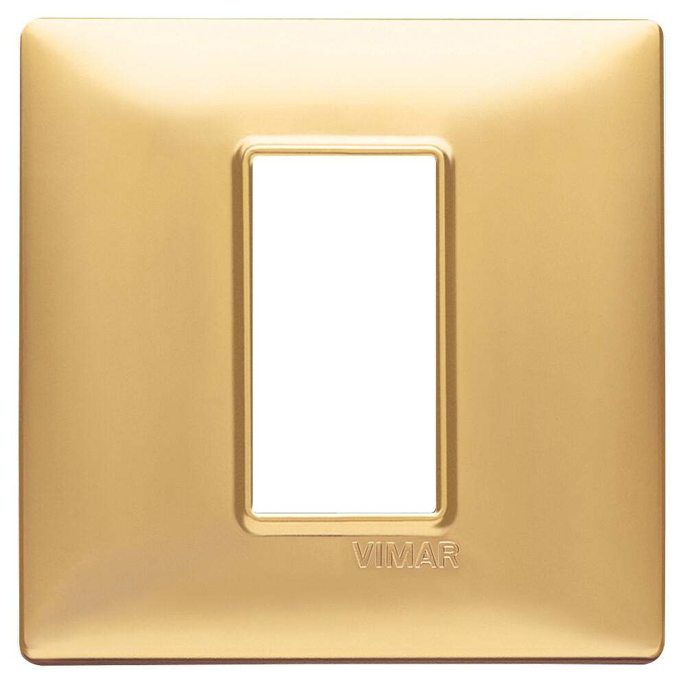 Накладка для 1 модуля золото матовое