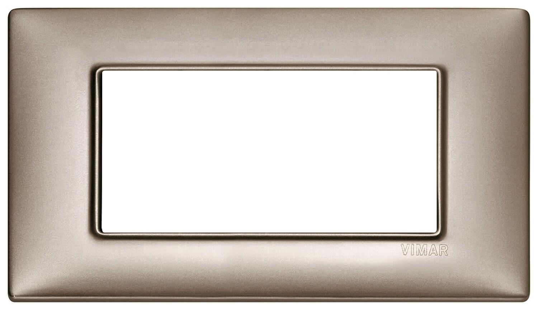 Накладка для 4 модулей никель перламутровый