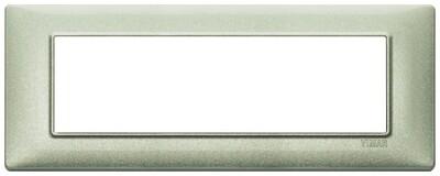 Накладка для 7 модулей зеленая металлизированная