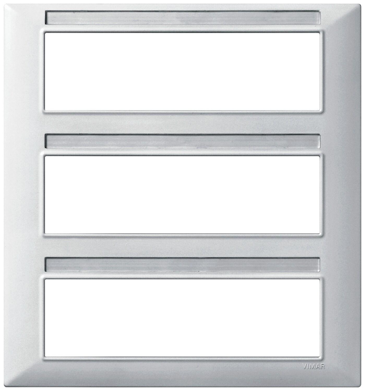 Накладка для 21 модуля (7+7+7), серебро матовое