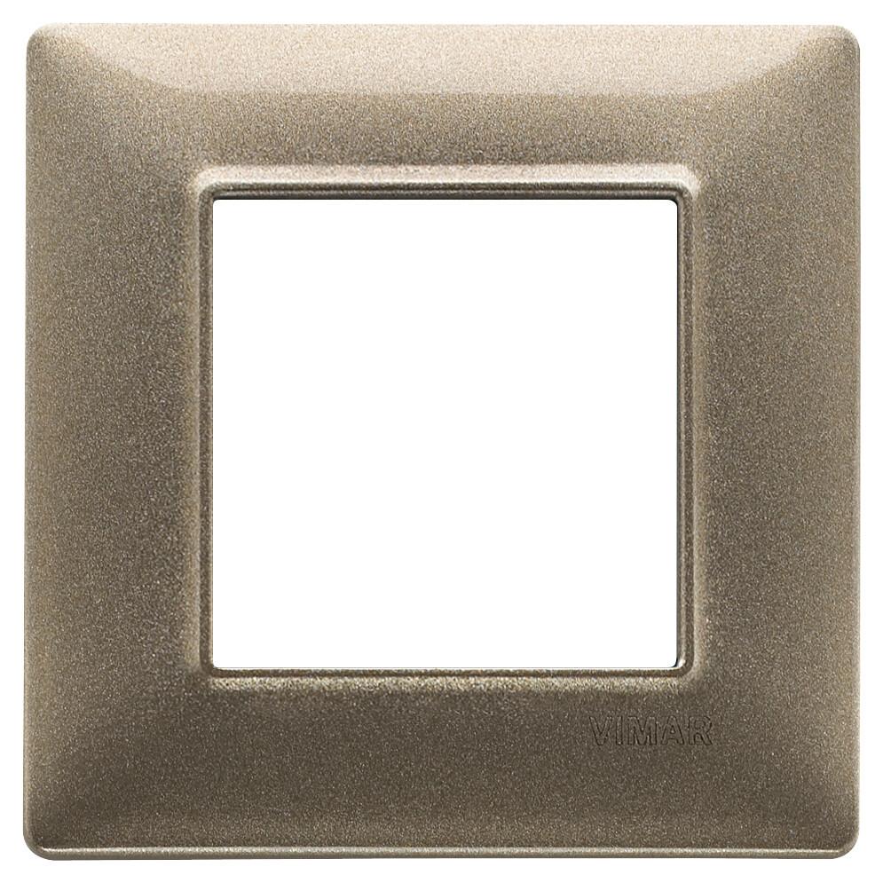 Накладка для 2 модулей бронза металлизированная