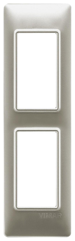 Накладка на 2 модуля для панелей, никель матовый,